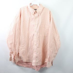 Burberry Mens XL Long Sleeve Nova Check Shirt Pink